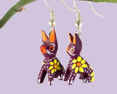 Kitten earrings
