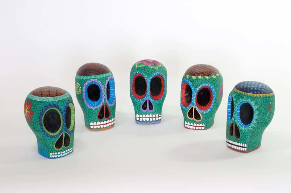 Small Green Day of the Dead Skull