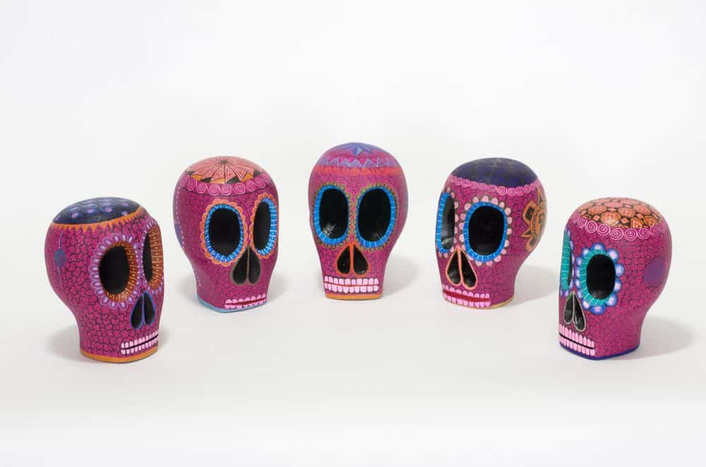 Small Pink Day of the Dead Skull